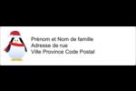 Pingouin des Fêtes Étiquettes D'Adresse - gabarit prédéfini. <br/>Utilisez notre logiciel Avery Design & Print Online pour personnaliser facilement la conception.