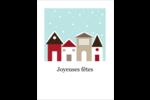 Village d'hiver Cartes Et Articles D'Artisanat Imprimables - gabarit prédéfini. <br/>Utilisez notre logiciel Avery Design & Print Online pour personnaliser facilement la conception.
