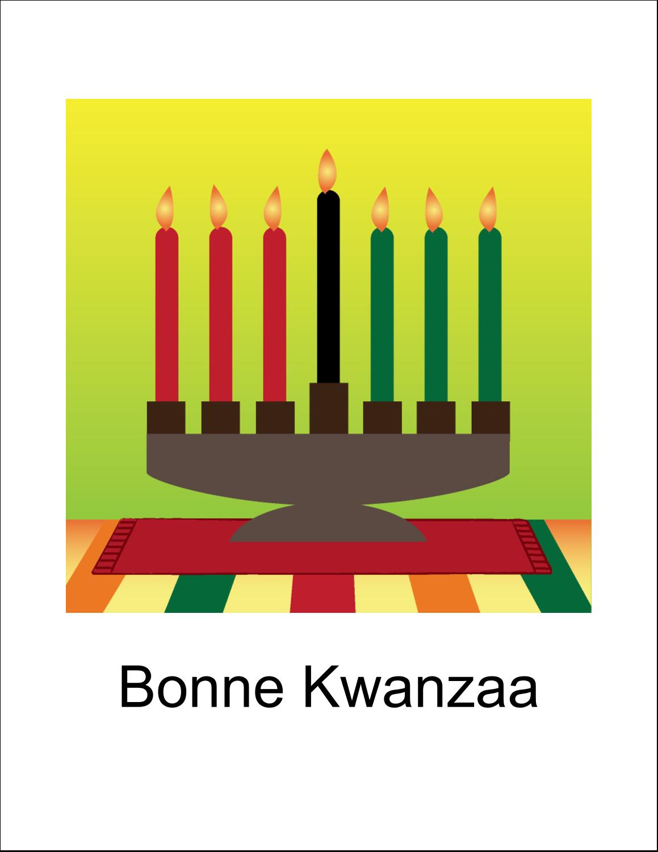 """5½"""" x 8½"""" Cartes Et Articles D'Artisanat Imprimables - Lueur verte de Kwanzaa"""