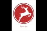 Renne de Noël dans un cercle Cartes Et Articles D'Artisanat Imprimables - gabarit prédéfini. <br/>Utilisez notre logiciel Avery Design & Print Online pour personnaliser facilement la conception.