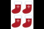 Bas avec flocon de neige Cartes Et Articles D'Artisanat Imprimables - gabarit prédéfini. <br/>Utilisez notre logiciel Avery Design & Print Online pour personnaliser facilement la conception.