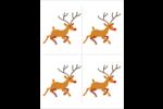 Rudolph le renne Cartes Et Articles D'Artisanat Imprimables - gabarit prédéfini. <br/>Utilisez notre logiciel Avery Design & Print Online pour personnaliser facilement la conception.