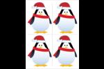 Pingouin des Fêtes Cartes Et Articles D'Artisanat Imprimables - gabarit prédéfini. <br/>Utilisez notre logiciel Avery Design & Print Online pour personnaliser facilement la conception.