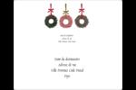 Couronnes de Noël Étiquettes D'Adresse - gabarit prédéfini. <br/>Utilisez notre logiciel Avery Design & Print Online pour personnaliser facilement la conception.