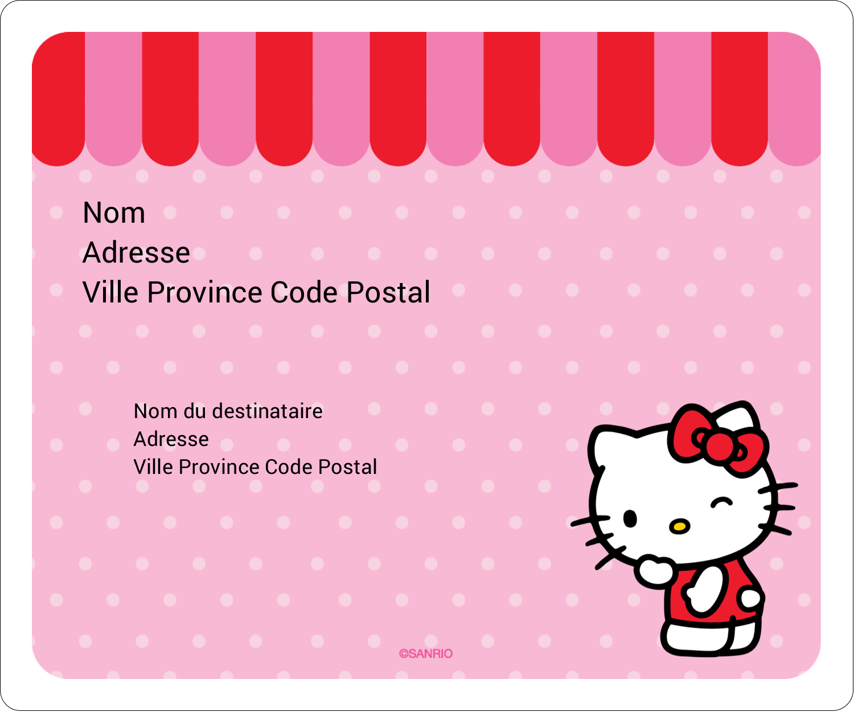 "½"" x 1¾"" Étiquettes D'Adresse - Clin d'œil Hello Kitty"
