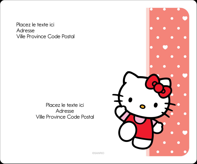 """½"""" x 1¾"""" Étiquettes D'Adresse - Nous aimons Hello Kitty"""