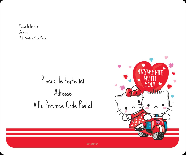 """½"""" x 1¾"""" Étiquettes D'Adresse - Hello Kitty et Cher Daniel Valentin"""