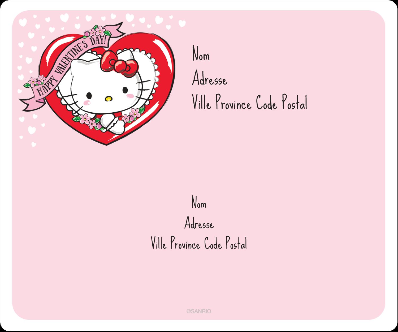 "½"" x 1¾"" Étiquettes D'Adresse - Hello Kitty Saint-Valentin"