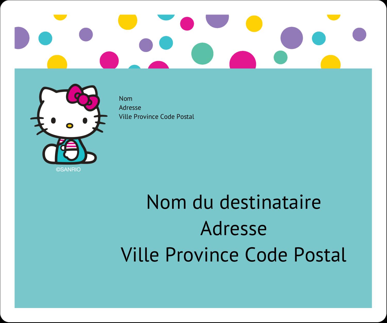"""½"""" x 1¾"""" Étiquettes D'Adresse - Fête Hello Kitty"""