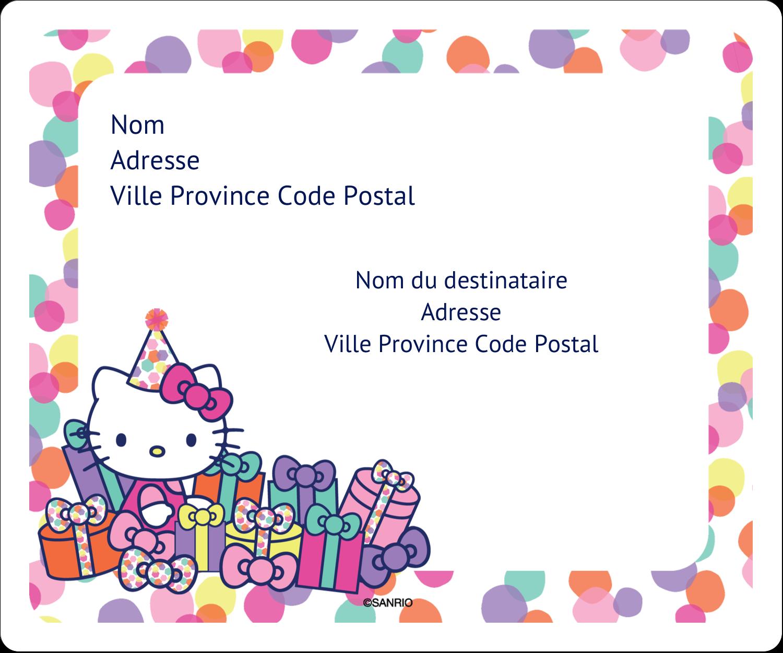 "½"" x 1¾"" Étiquettes D'Adresse - Hello Kitty Anniversaire"