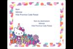 Hello Kitty Anniversaire Étiquettes D'Adresse - gabarit prédéfini. <br/>Utilisez notre logiciel Avery Design & Print Online pour personnaliser facilement la conception.