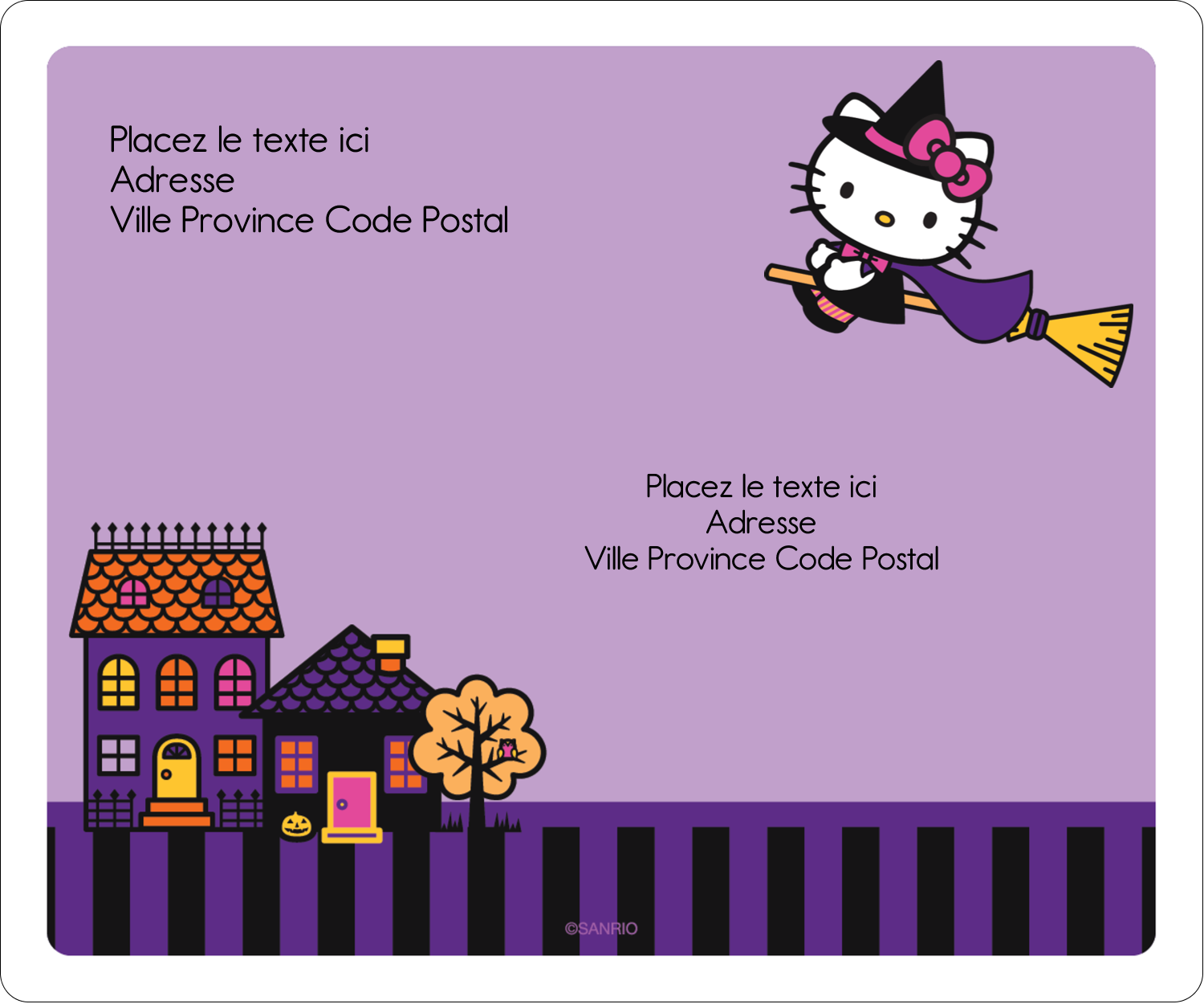 "3⅓"" x 4"" Étiquettes d'expédition - Halloween Hello Kitty"