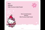 Canne en bonbon de Noël Hello Kitty Étiquettes D'Adresse - gabarit prédéfini. <br/>Utilisez notre logiciel Avery Design & Print Online pour personnaliser facilement la conception.