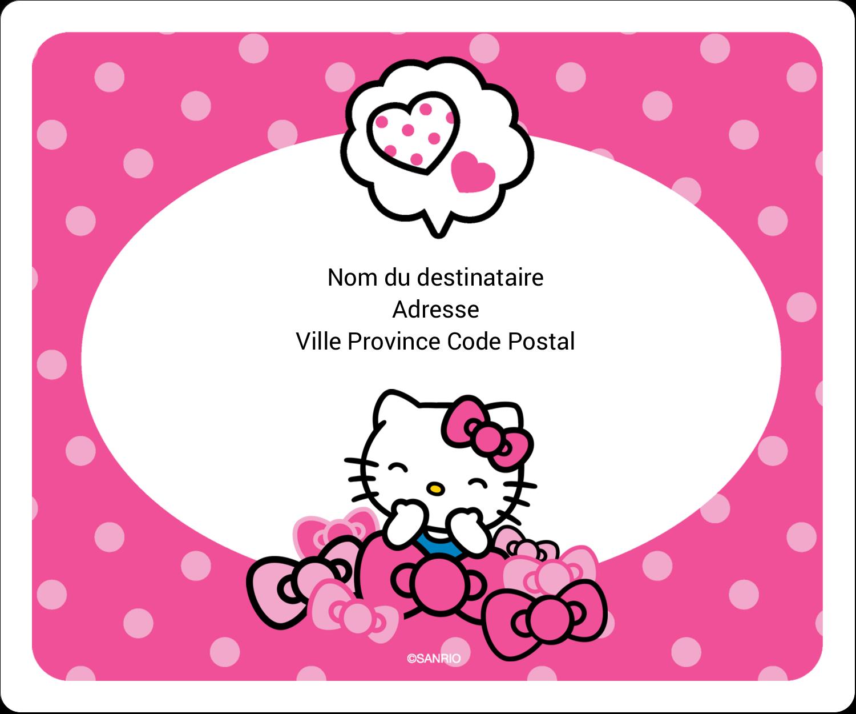 """3⅓"""" x 4"""" Étiquettes d'expédition - Hello Kitty rigole"""