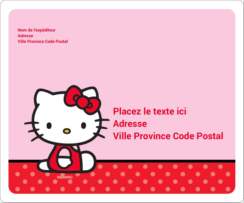 """½"""" x 1¾"""" Étiquettes D'Adresse - Hello Kitty super mignonne"""