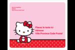 Hello Kitty super mignonne Étiquettes D'Adresse - gabarit prédéfini. <br/>Utilisez notre logiciel Avery Design & Print Online pour personnaliser facilement la conception.