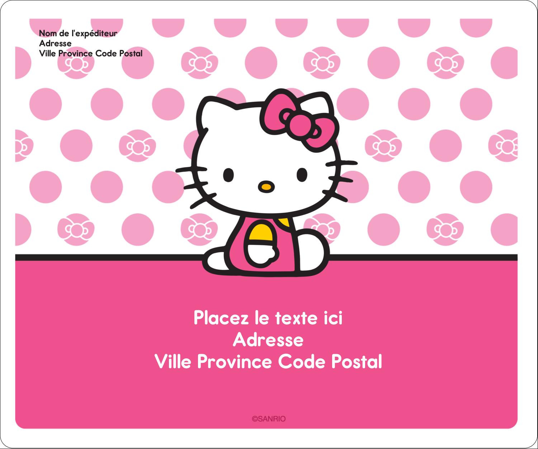 """½"""" x 1¾"""" Étiquettes D'Adresse - Jolie en rose"""