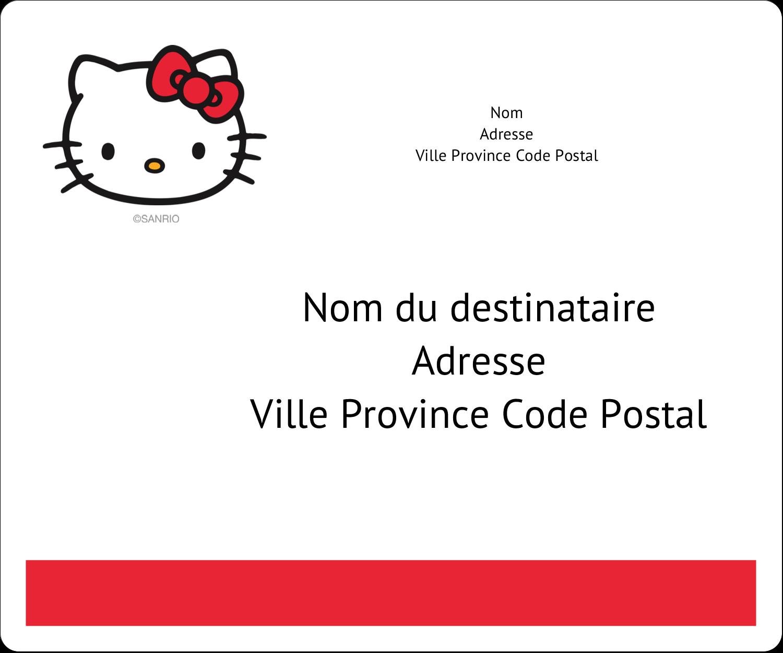 """½"""" x 1¾"""" Étiquettes D'Adresse - Bonjour Ami!"""