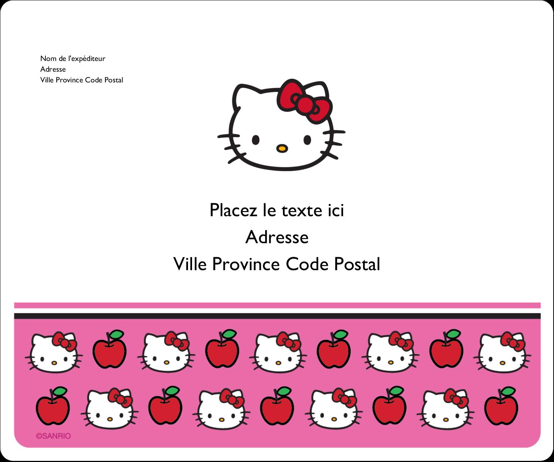 """½"""" x 1¾"""" Étiquettes D'Adresse - Hello Kitty adore les pommes!"""