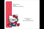 Votre Ami Hello Kitty Étiquettes D'Adresse - gabarit prédéfini. <br/>Utilisez notre logiciel Avery Design & Print Online pour personnaliser facilement la conception.