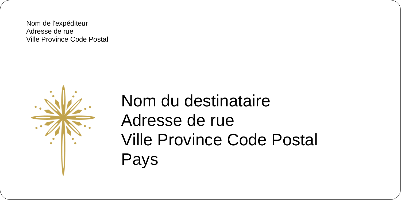 """3-7/16"""" x ⅔"""" Étiquettes de classement écologiques - Étoile dorée de Bethléem"""