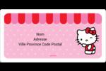 Clin d'œil Hello Kitty Étiquettes de classement écologiques - gabarit prédéfini. <br/>Utilisez notre logiciel Avery Design & Print Online pour personnaliser facilement la conception.