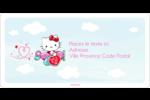 Hello Kitty Saint-Valentin - Mon cœur monte pour vous Étiquettes de classement écologiques - gabarit prédéfini. <br/>Utilisez notre logiciel Avery Design & Print Online pour personnaliser facilement la conception.