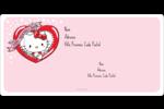 Hello Kitty Saint-Valentin Étiquettes de classement écologiques - gabarit prédéfini. <br/>Utilisez notre logiciel Avery Design & Print Online pour personnaliser facilement la conception.