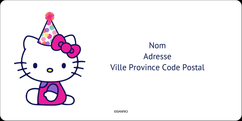 """3-7/16"""" x ⅔"""" Étiquettes de classement écologiques - Hello Kitty Anniversaire"""