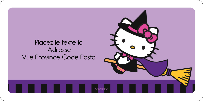 """3-7/16"""" x ⅔"""" Étiquettes de classement écologiques - Halloween Hello Kitty"""