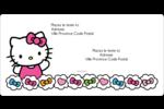 Hello Kitty Cœurs et Nœuds Étiquettes de classement écologiques - gabarit prédéfini. <br/>Utilisez notre logiciel Avery Design & Print Online pour personnaliser facilement la conception.