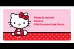 Hello Kitty super mignonne Étiquettes de classement écologiques - gabarit prédéfini. <br/>Utilisez notre logiciel Avery Design & Print Online pour personnaliser facilement la conception.
