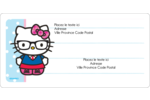 Hello Kitty avec des lunettes Étiquettes de classement écologiques - gabarit prédéfini. <br/>Utilisez notre logiciel Avery Design & Print Online pour personnaliser facilement la conception.