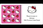 Hello Kitty adore les pommes! Étiquettes de classement écologiques - gabarit prédéfini. <br/>Utilisez notre logiciel Avery Design & Print Online pour personnaliser facilement la conception.