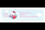 Hello Kitty Saint-Valentin - Mon cœur monte pour vous Intercalaires / Onglets - gabarit prédéfini. <br/>Utilisez notre logiciel Avery Design & Print Online pour personnaliser facilement la conception.
