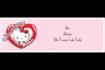 Hello Kitty Saint-Valentin Intercalaires / Onglets - gabarit prédéfini. <br/>Utilisez notre logiciel Avery Design & Print Online pour personnaliser facilement la conception.
