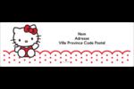 Salut Hello Kitty Intercalaires / Onglets - gabarit prédéfini. <br/>Utilisez notre logiciel Avery Design & Print Online pour personnaliser facilement la conception.