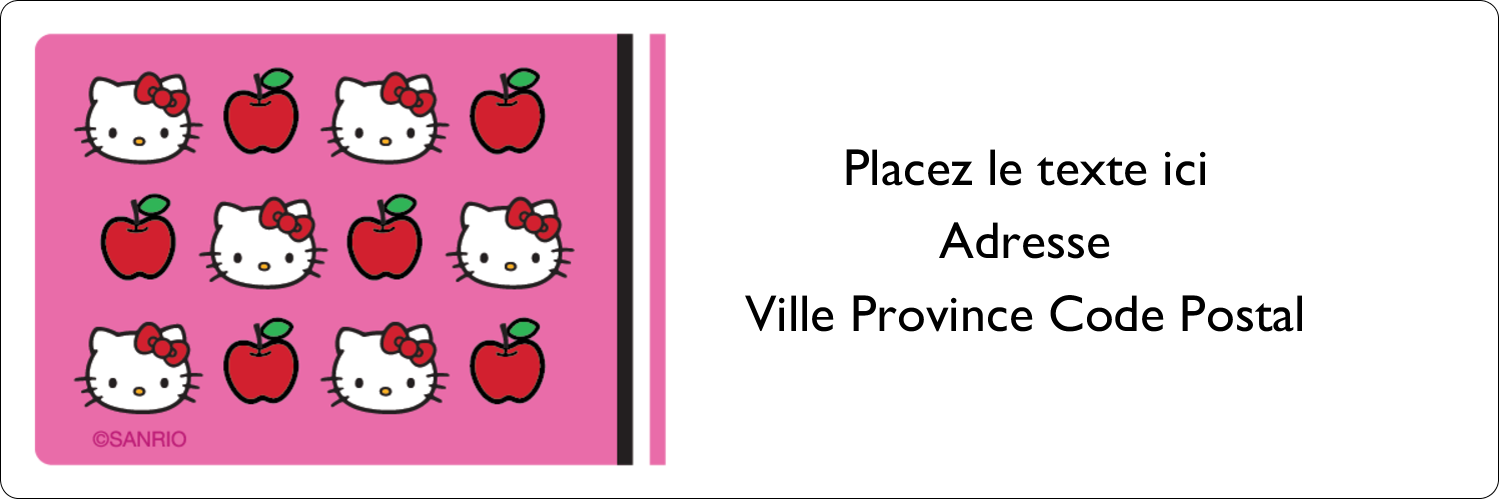 """8½"""" x 11"""" Intercalaires / Onglets - Hello Kitty adore les pommes!"""
