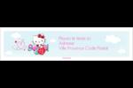 Hello Kitty Saint-Valentin - Mon cœur monte pour vous Étiquettes d'adresse - gabarit prédéfini. <br/>Utilisez notre logiciel Avery Design & Print Online pour personnaliser facilement la conception.