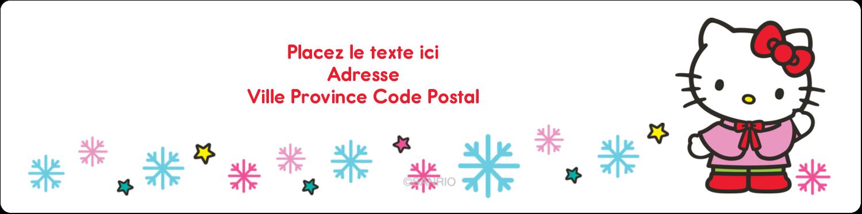 """1⅓"""" x 4"""" Étiquettes d'adresse - Hello Kitty Fêtes"""