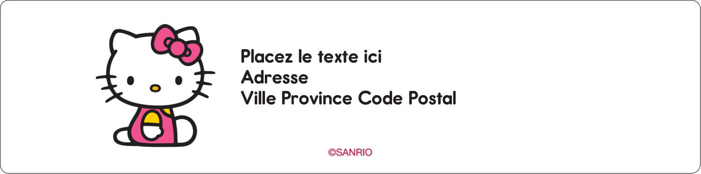 """1⅓"""" x 4"""" Étiquettes d'adresse - Jolie en rose"""