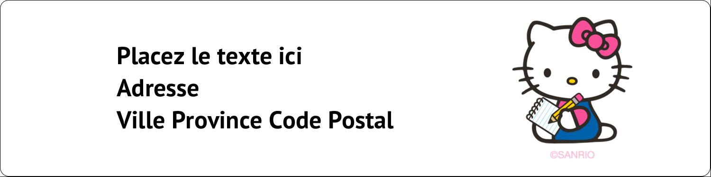 """1⅓"""" x 4"""" Étiquettes d'adresse - Prendre une note"""