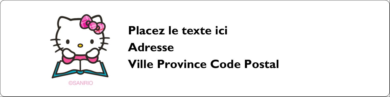 """1⅓"""" x 4"""" Étiquettes d'adresse - Temps d'étudier"""