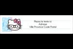 Hello Kitty avec des lunettes Étiquettes d'adresse - gabarit prédéfini. <br/>Utilisez notre logiciel Avery Design & Print Online pour personnaliser facilement la conception.