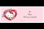 Hello Kitty Saint-Valentin Étiquettes d'adresse - gabarit prédéfini. <br/>Utilisez notre logiciel Avery Design & Print Online pour personnaliser facilement la conception.