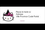 Halloween Hello Kitty Étiquettes d'adresse - gabarit prédéfini. <br/>Utilisez notre logiciel Avery Design & Print Online pour personnaliser facilement la conception.