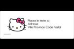 Hello Kitty Cœurs et Nœuds Étiquettes d'adresse - gabarit prédéfini. <br/>Utilisez notre logiciel Avery Design & Print Online pour personnaliser facilement la conception.
