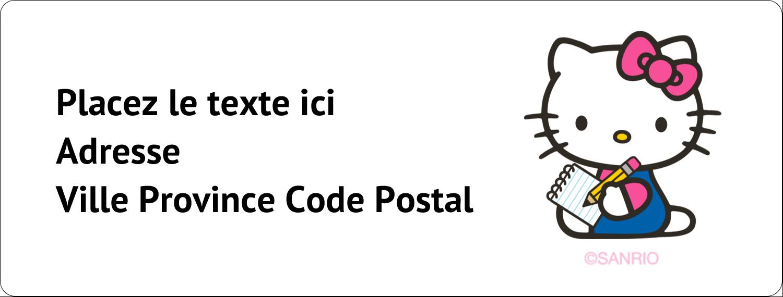 """1"""" x 2⅝"""" Étiquettes d'adresse - Prendre une note"""