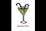 Cocktail des Fêtes Cartes Et Articles D'Artisanat Imprimables - gabarit prédéfini. <br/>Utilisez notre logiciel Avery Design & Print Online pour personnaliser facilement la conception.