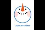 Visage de Frosty Cartes Et Articles D'Artisanat Imprimables - gabarit prédéfini. <br/>Utilisez notre logiciel Avery Design & Print Online pour personnaliser facilement la conception.